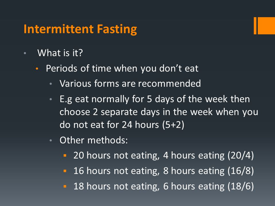 Intermittent Fasting Andrew Maclennan - ppt download