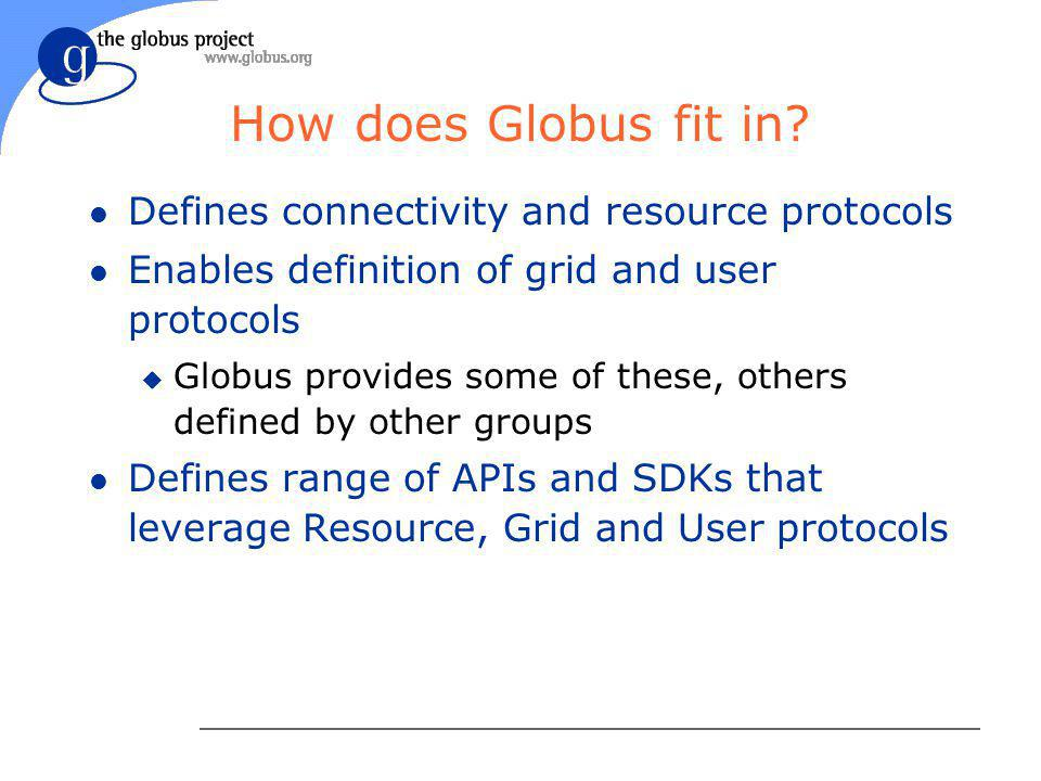 How does Globus fit in.