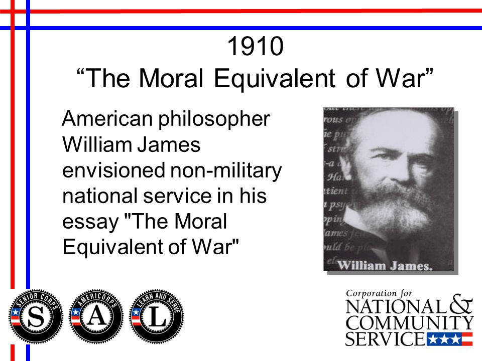 william james the moral equivalent of war