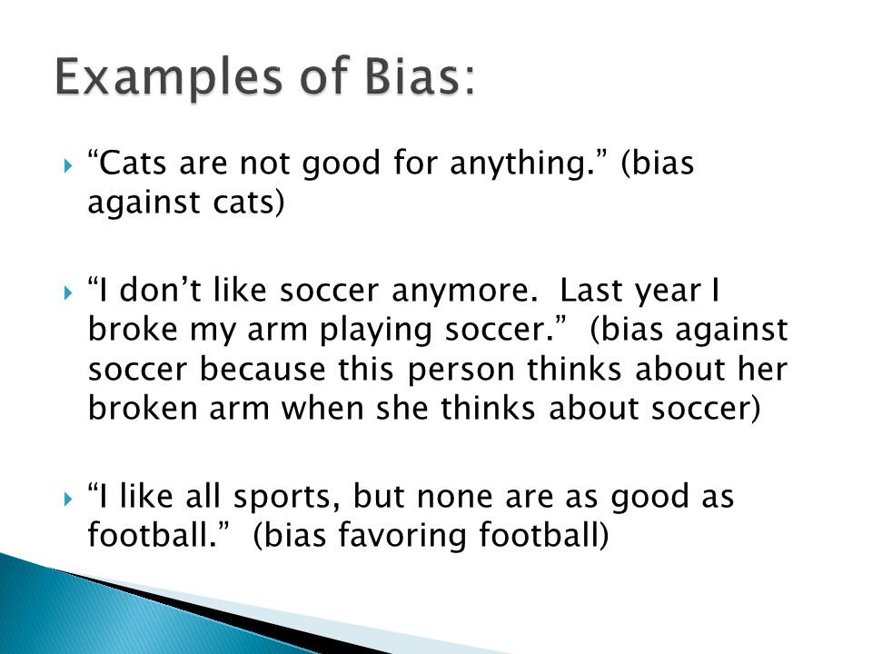 Cats are not good for anything. (bias against cats)  I don't like soccer anymore.