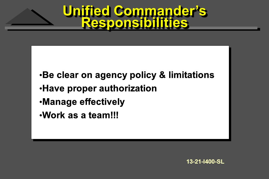 Be clear on agency policy & limitations Have proper authorization Manage effectively Work as a team!!.