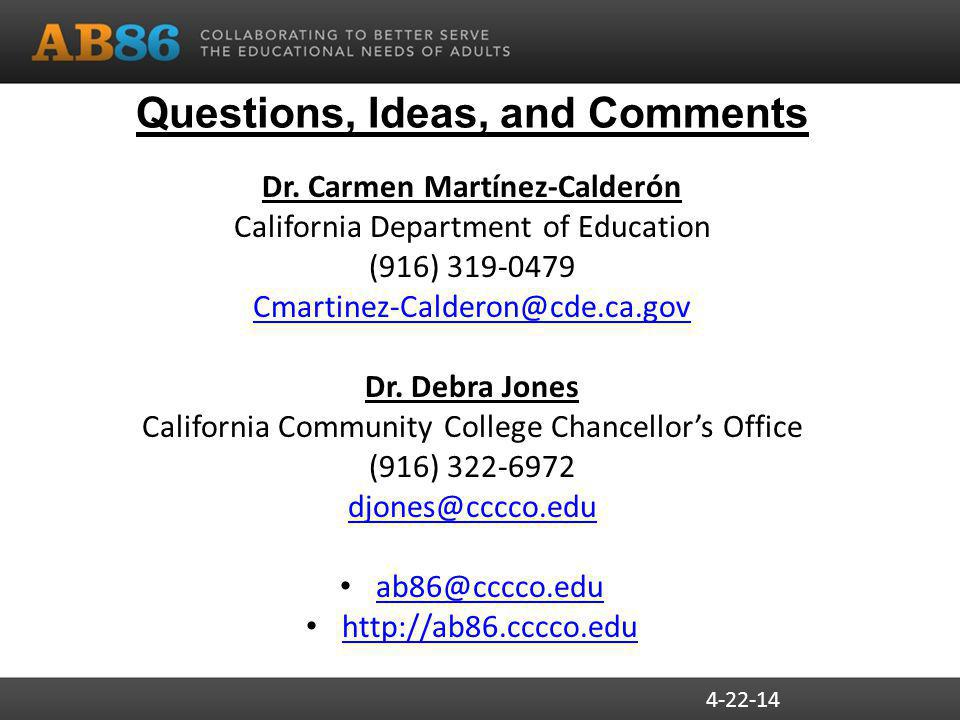 Questions, Ideas, and Comments Dr.