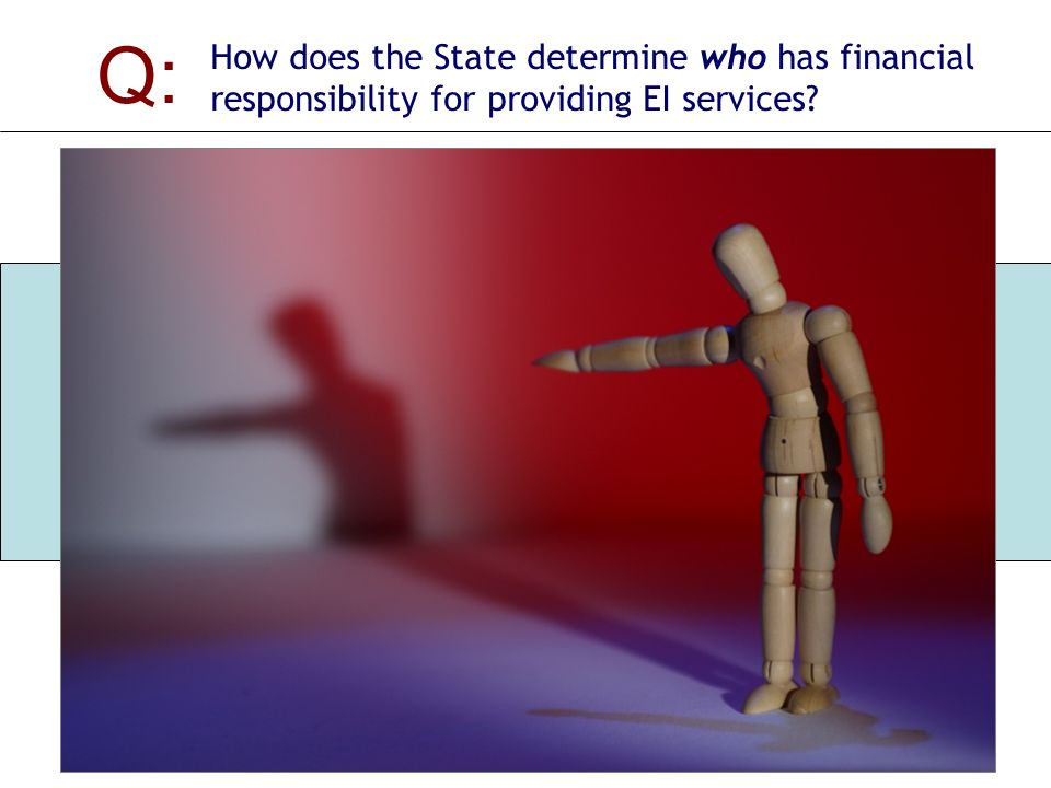 Q: How does the State determine who has financial responsibility for providing EI services.