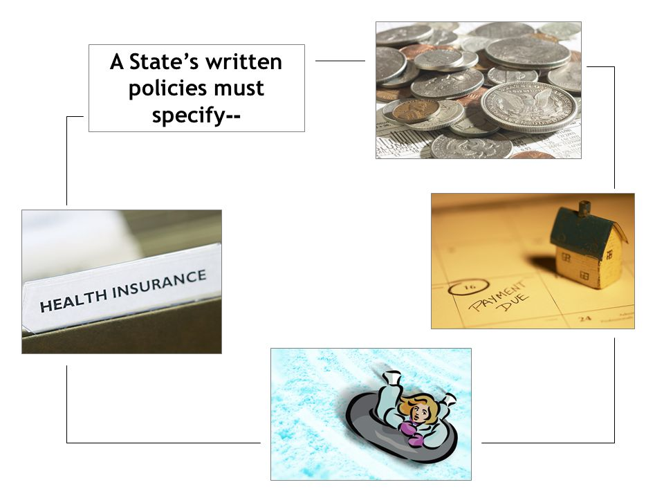A State's written policies must specify -- What services or functions are subject to the system of payments Basis & amount of fees that may be charged to the family Any fees charged to the family as a result of accessing family's benefits or insurance Any sliding or cost- participation fees that may be charged to parents