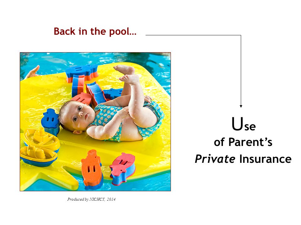 Back in the pool… U se of Parent's Private Insurance Produced by NICHCY, 2014