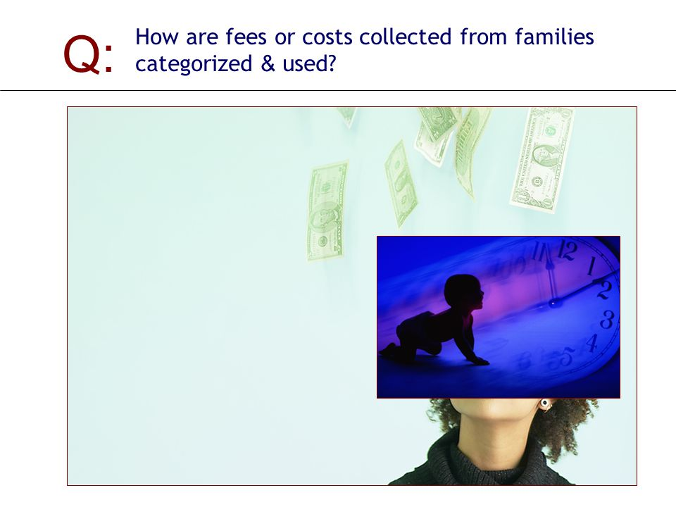 Q: How are fees or costs collected from families categorized & used.