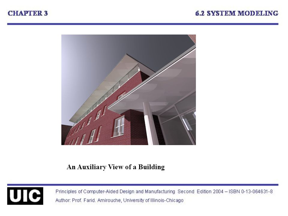An Auxiliary View of a Building