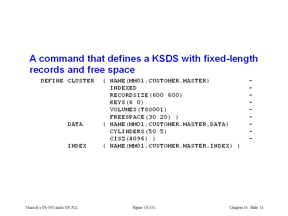 Murach's OS/390 and z/OS JCLChapter 16, Slide 14 Figure 16-05c
