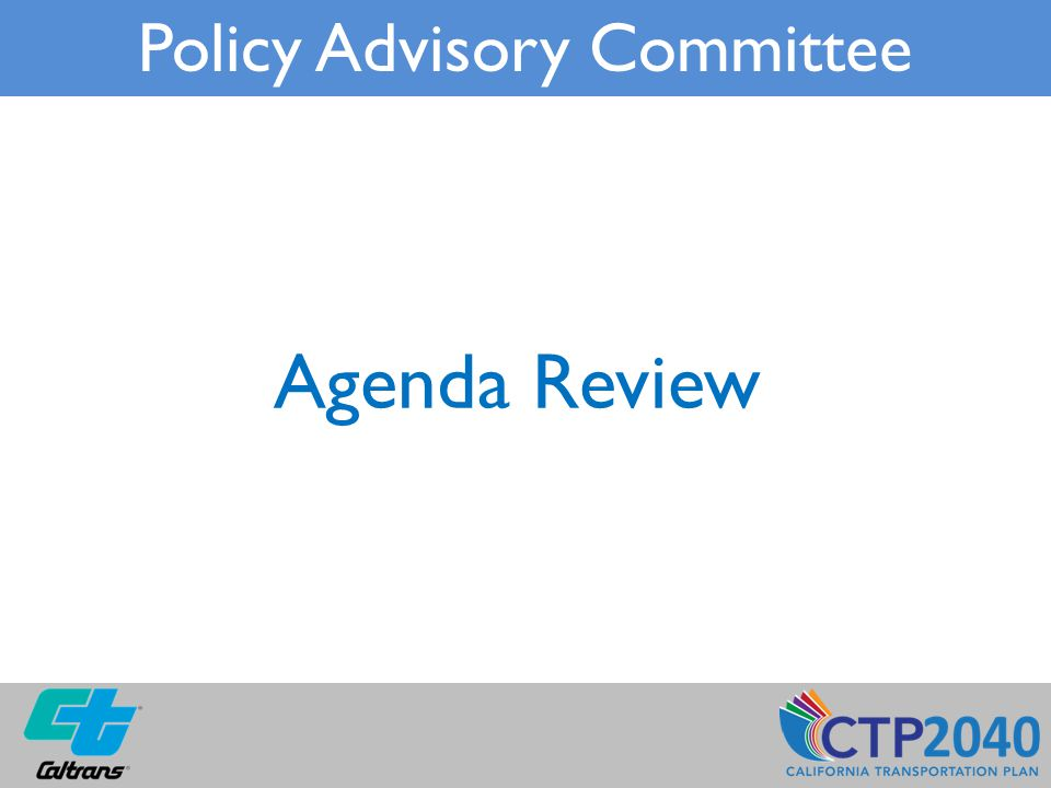 Agenda Review Policy Advisory Committee