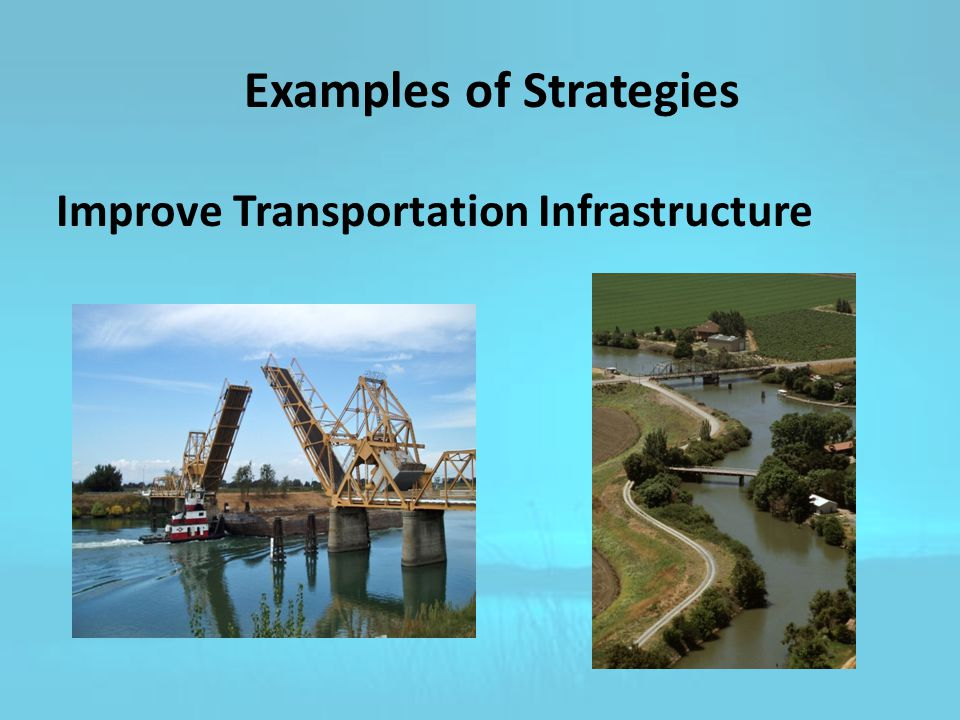 Improve Transportation Infrastructure Examples of Strategies