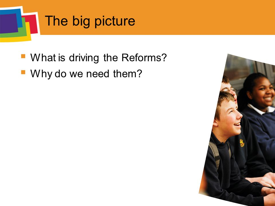 The big picture  What is driving the Reforms  Why do we need them