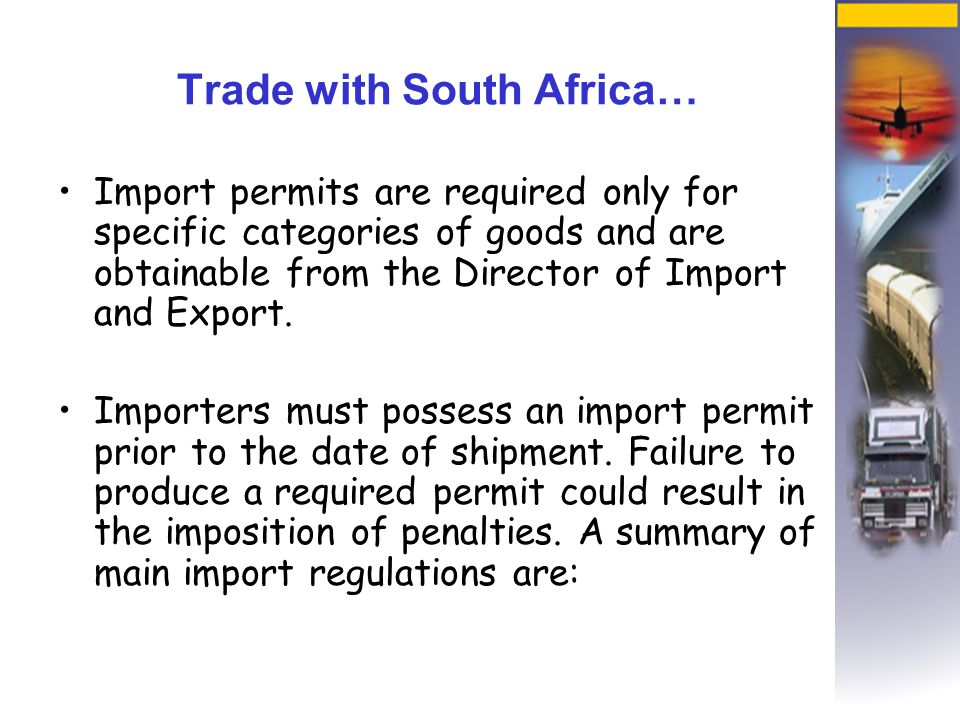 Export Regulations  These are sanctioned by governments to