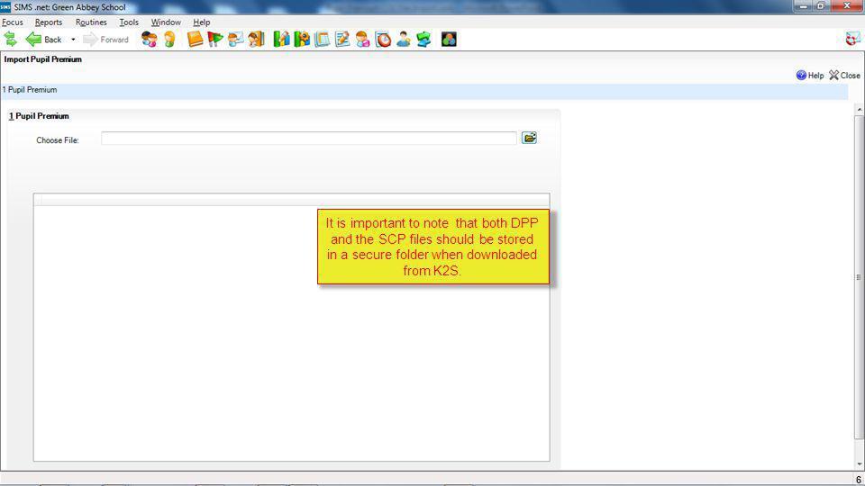 Import DPP (Deprivation Pupil Premium) CSV File  The DfE has