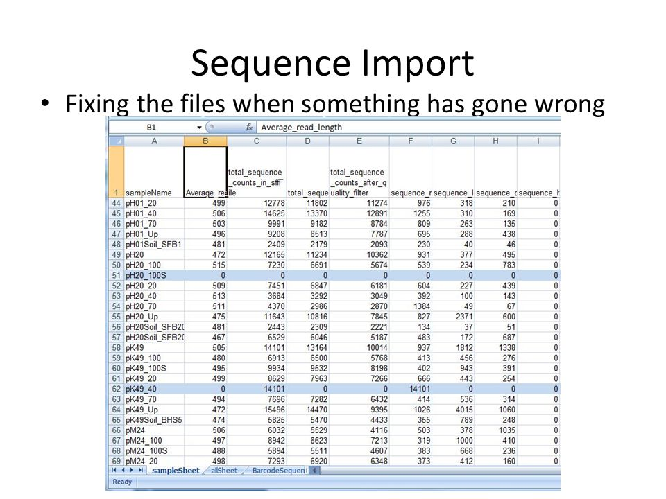 Sequence Import Fixing the files when something has gone wrong