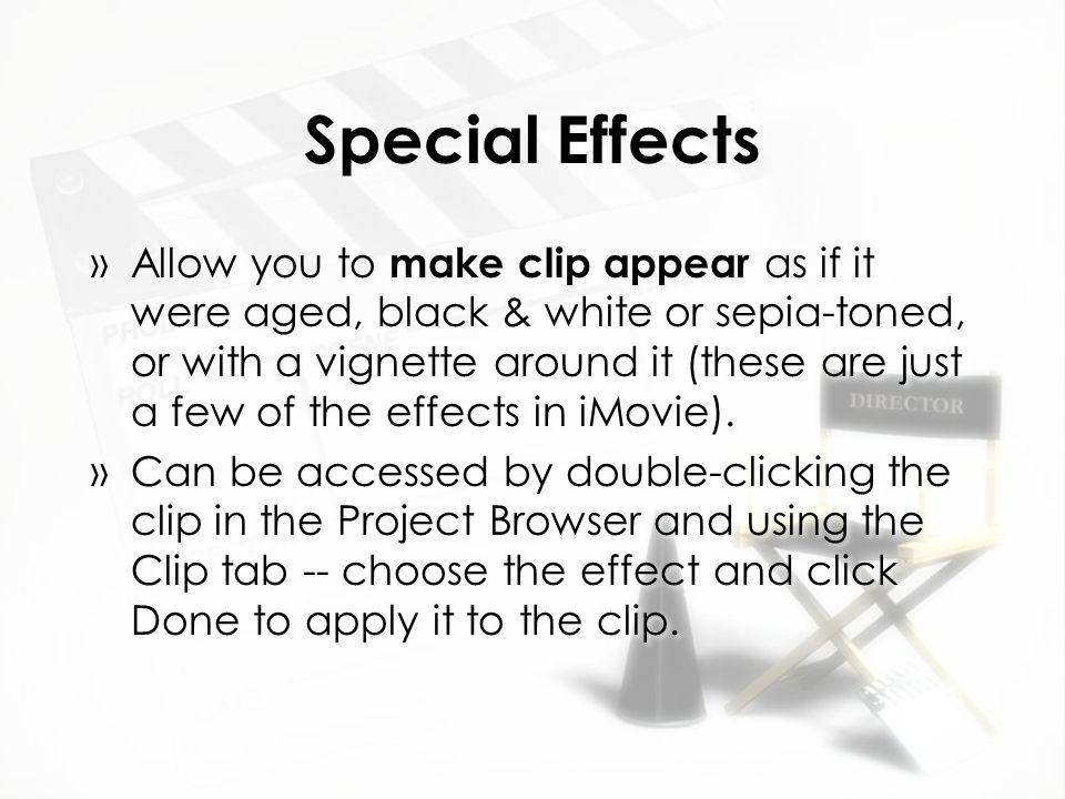 Imovie 10 Special Effects