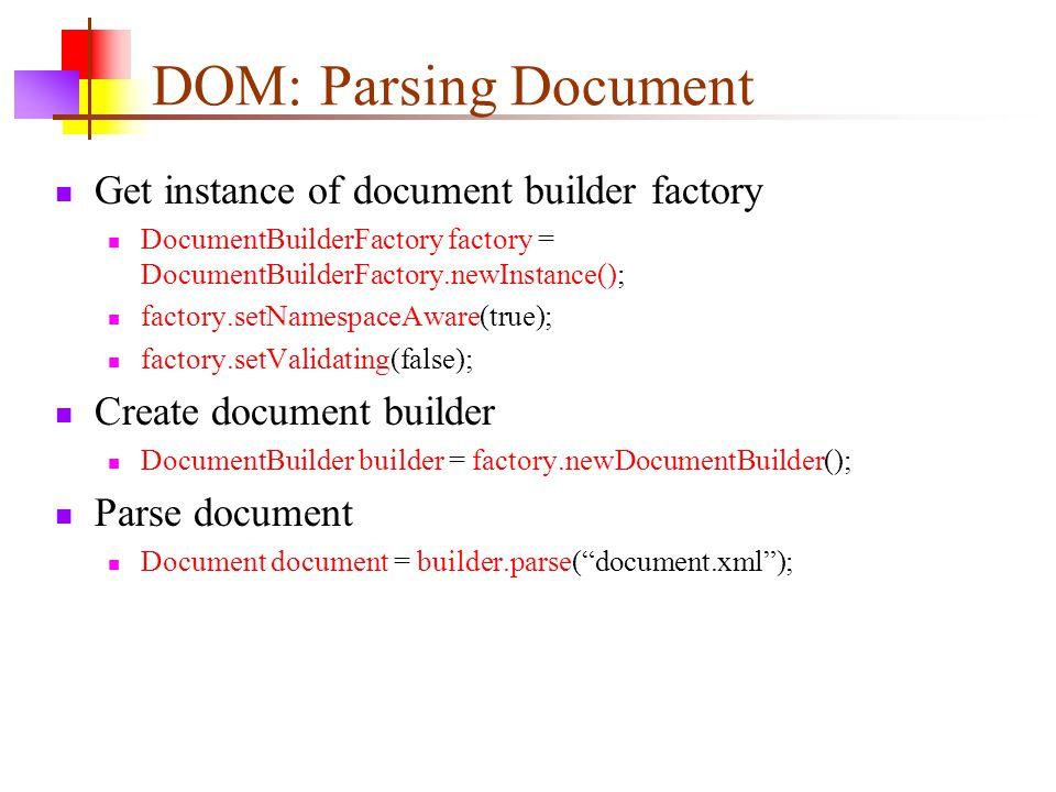 Setvalidating documentbuilderfactory factory