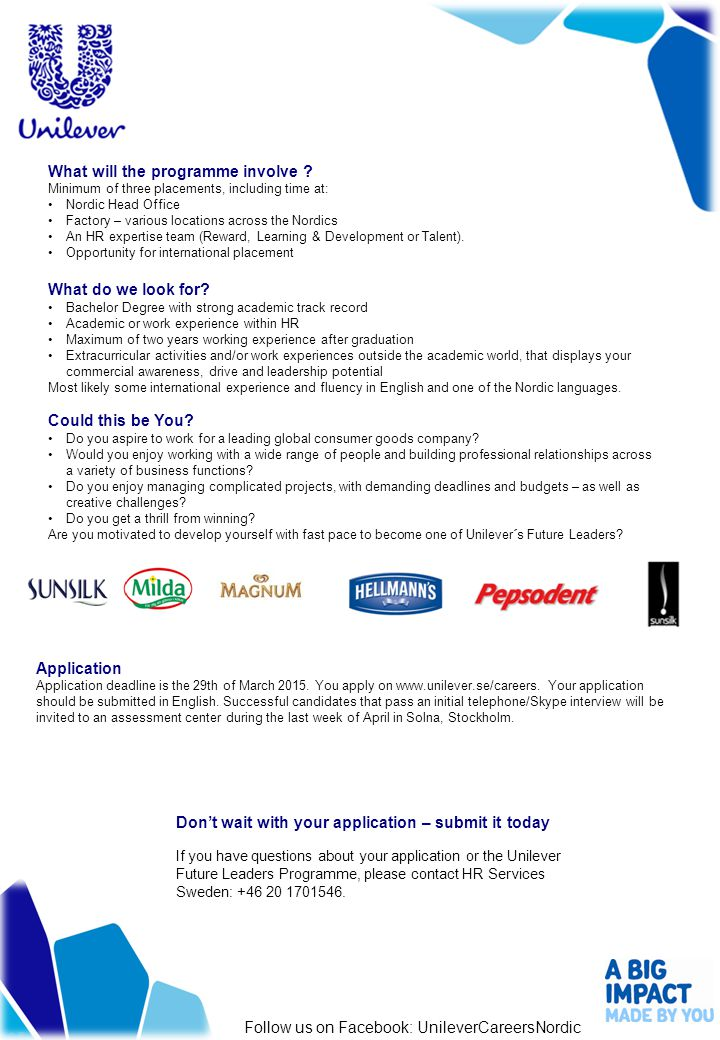 Application Application deadline is the 29th of March 2015.