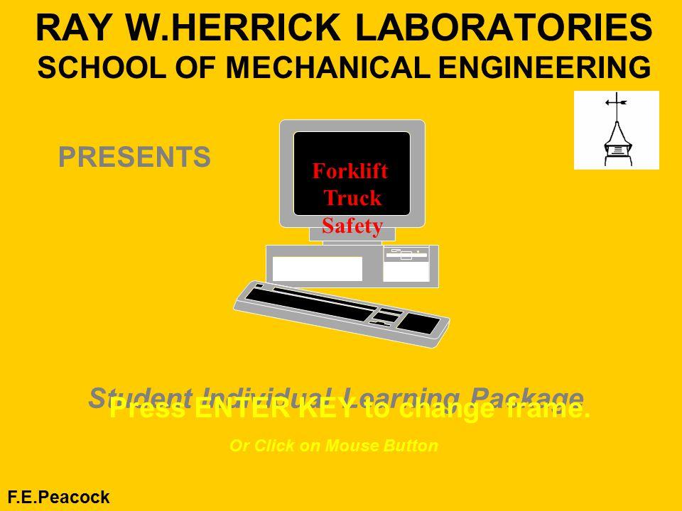 Ray Wherrick Laboratories School Of Mechanical Engineering Fe
