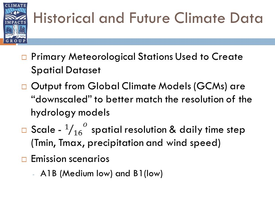 Historical and Future Climate Data