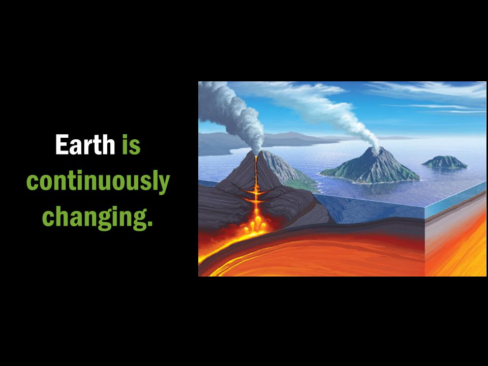 Earth is continuously changing.