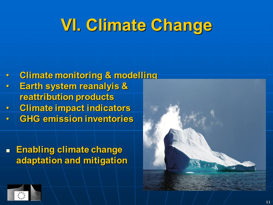 Climate monitoring & modellingClimate monitoring & modelling Earth system reanalyis & reattribution productsEarth system reanalyis & reattribution products Climate impact indicatorsClimate impact indicators GHG emission inventoriesGHG emission inventories Enabling climate change adaptation and mitigation Enabling climate change adaptation and mitigation 11