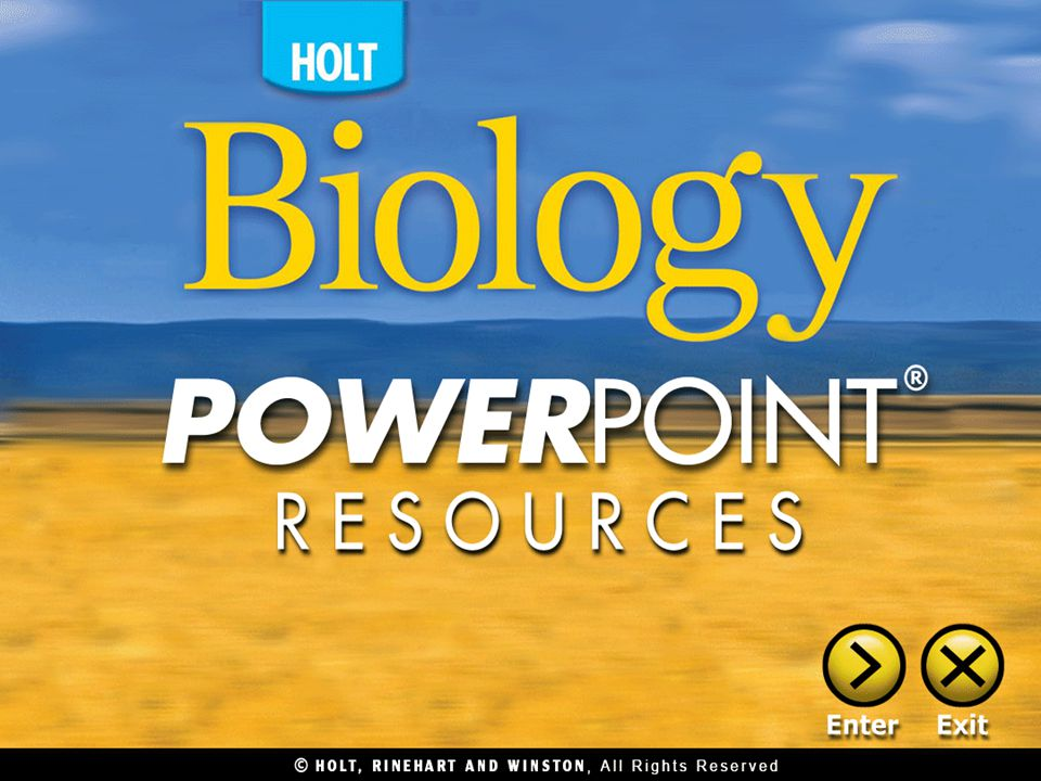 Lecture Chapter 1 Biology And You Chapter 2 Applications