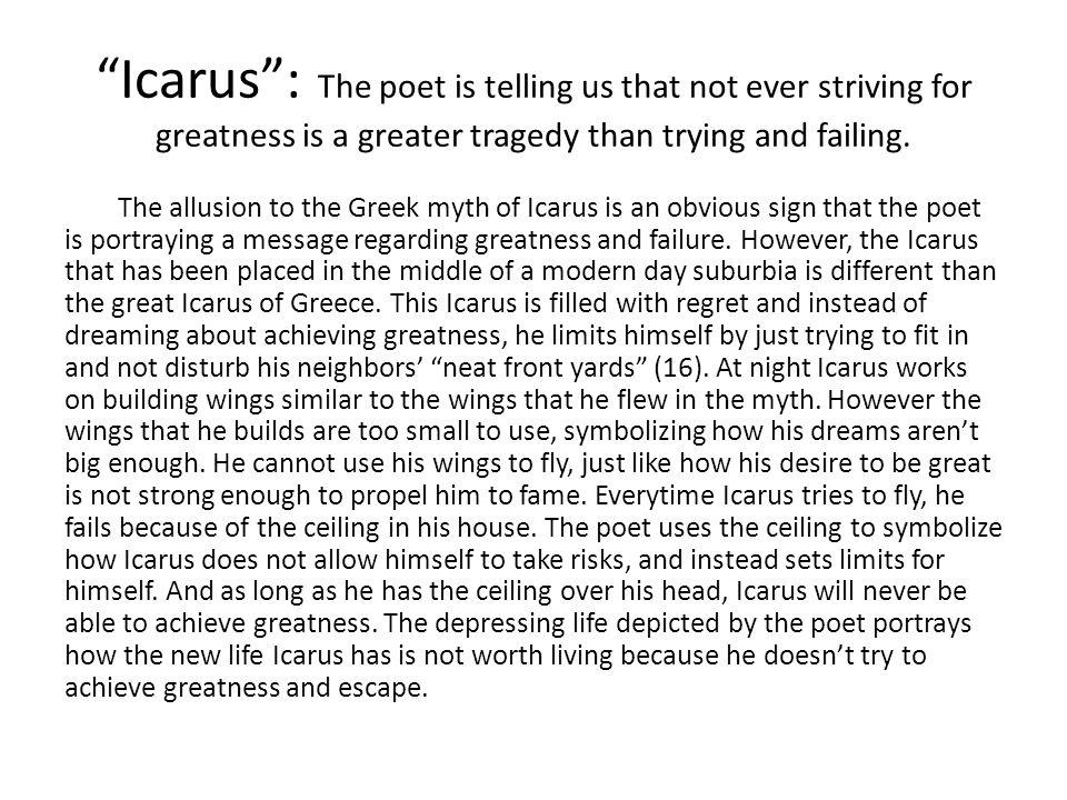 icarus poem