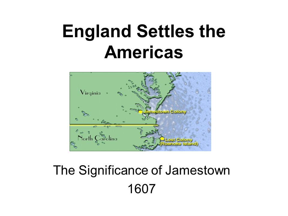 jamestown significance