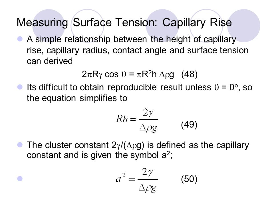 The Surface Tension Of Pure Substances Introduction Ppt Download