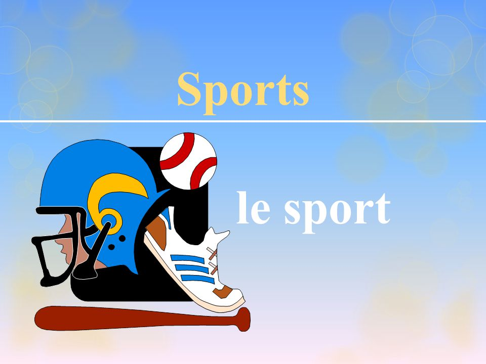 Sports le sport