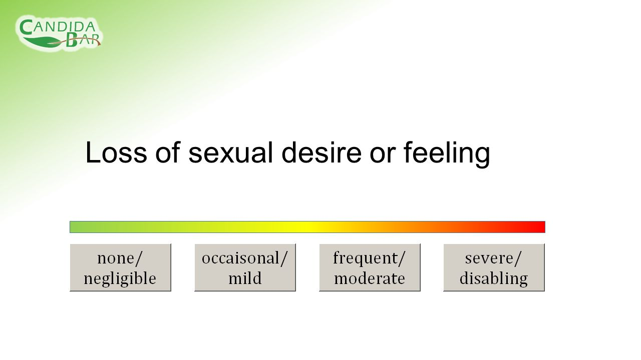 Loss of sexual desire or feeling