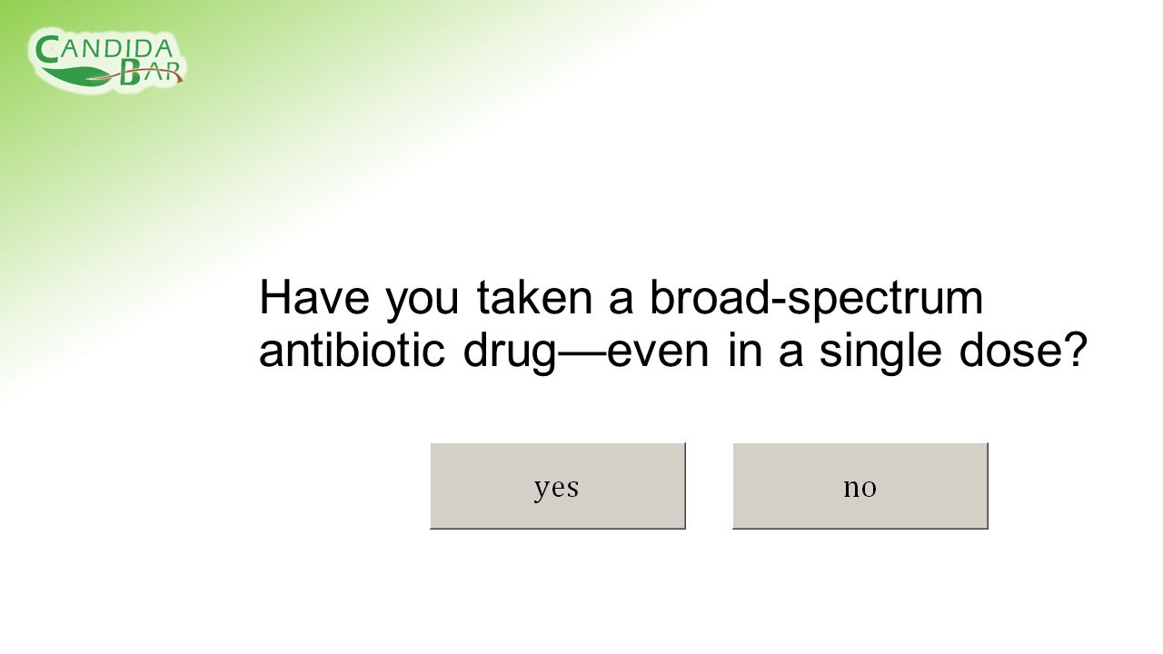 Have you taken a broad-spectrum antibiotic drug—even in a single dose