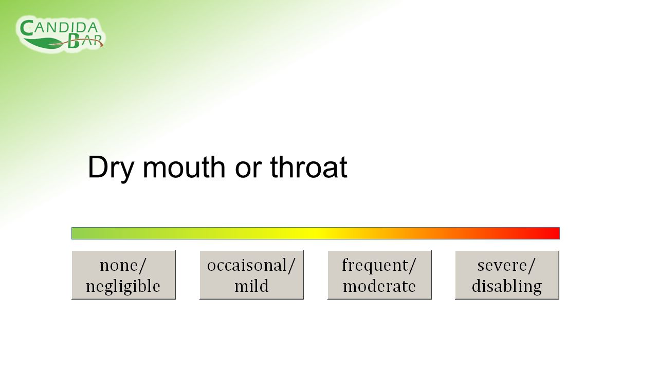 Dry mouth or throat