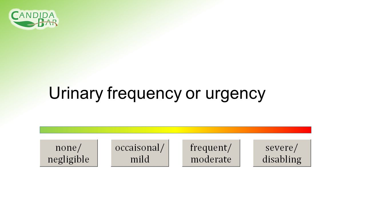 Urinary frequency or urgency