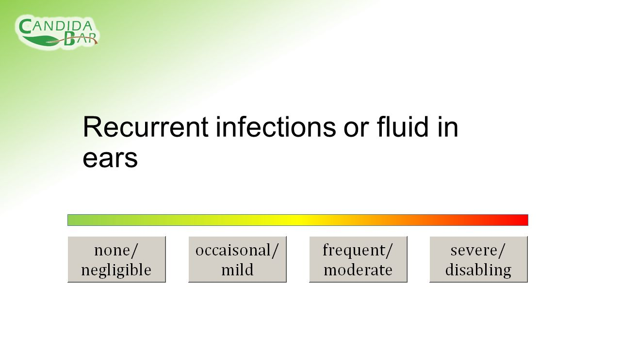 Recurrent infections or fluid in ears