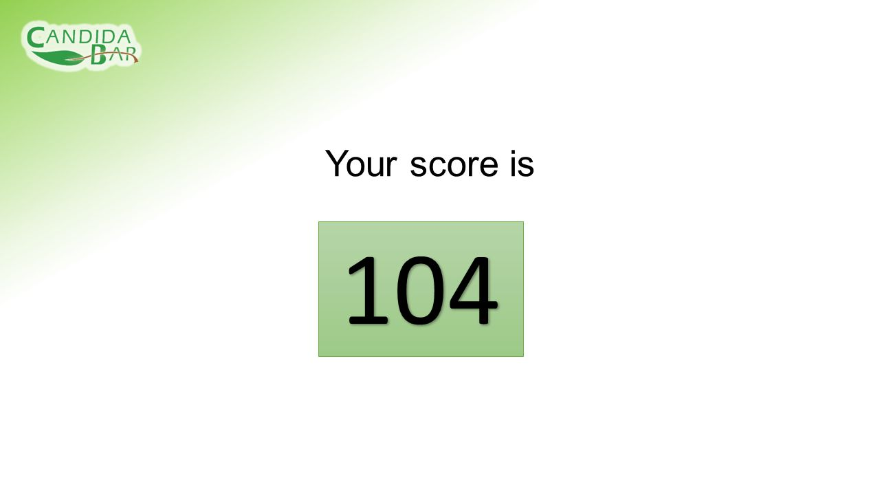 Your score is 104