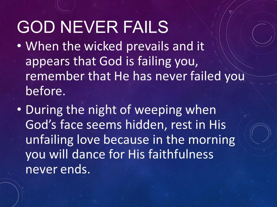 when god fails you