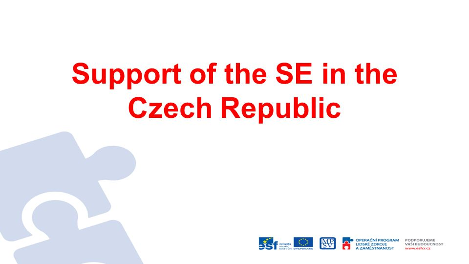 Support of the SE in the Czech Republic
