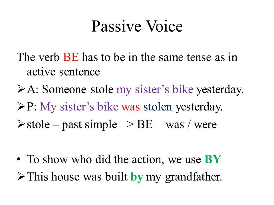 Passive Voice  Form: to be + past participle (-ed, 3 stĺpec) It's