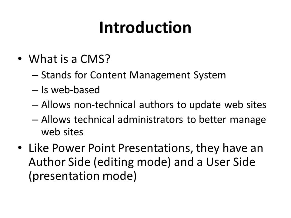 CMS Author Training An introduction to maintaining content in UH's Content Management System. - ppt download - 웹