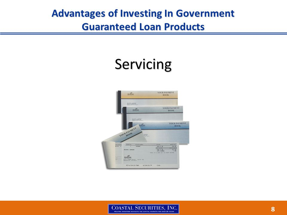8 Advantages of Investing In Government Guaranteed Loan Products Servicing