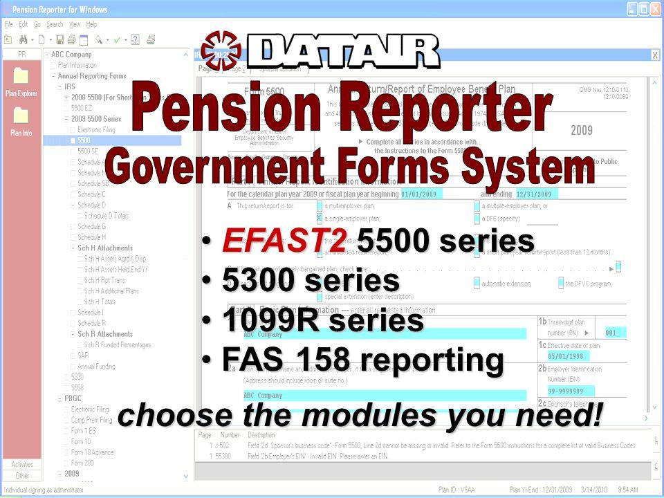 Efast Series Efast Series 5300 Series 5300 Series 1099r Series 1099r