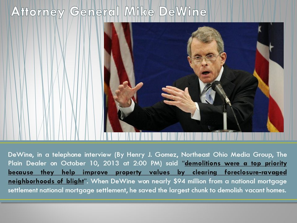 DeWine, in a telephone interview (By Henry J.