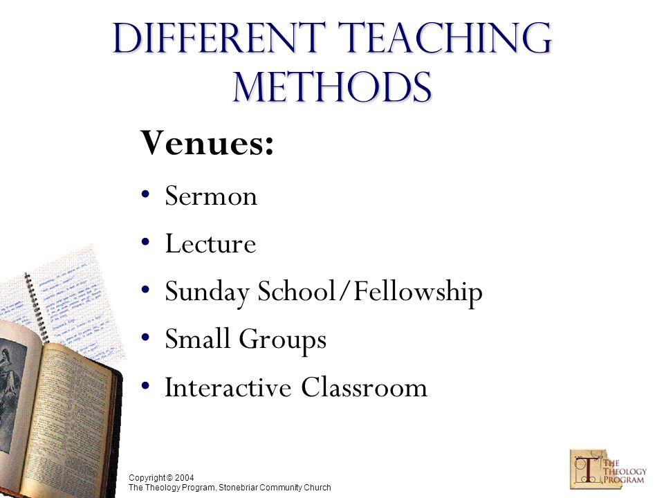 Copyright © 2004, C  Michael Patton Principles in Biblical Teaching