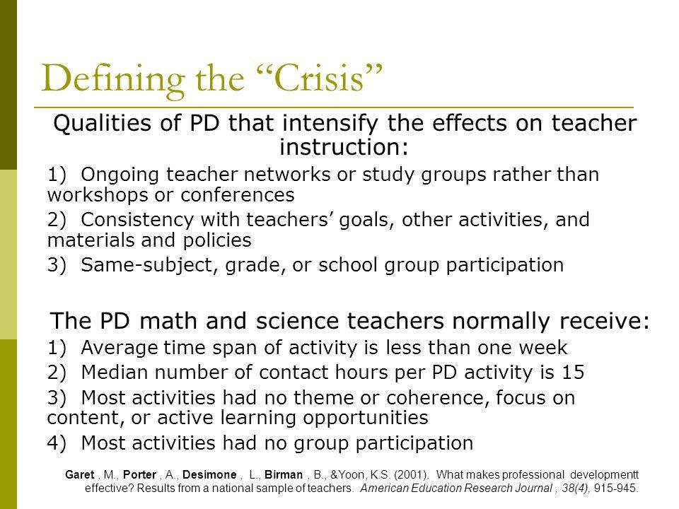 Supported Collaborative Teacher Inquiry David Slavit Tamara