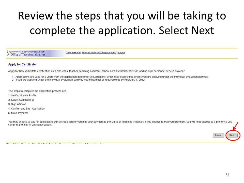 Handbook New York State On-Line Teacher Certification Process For ...
