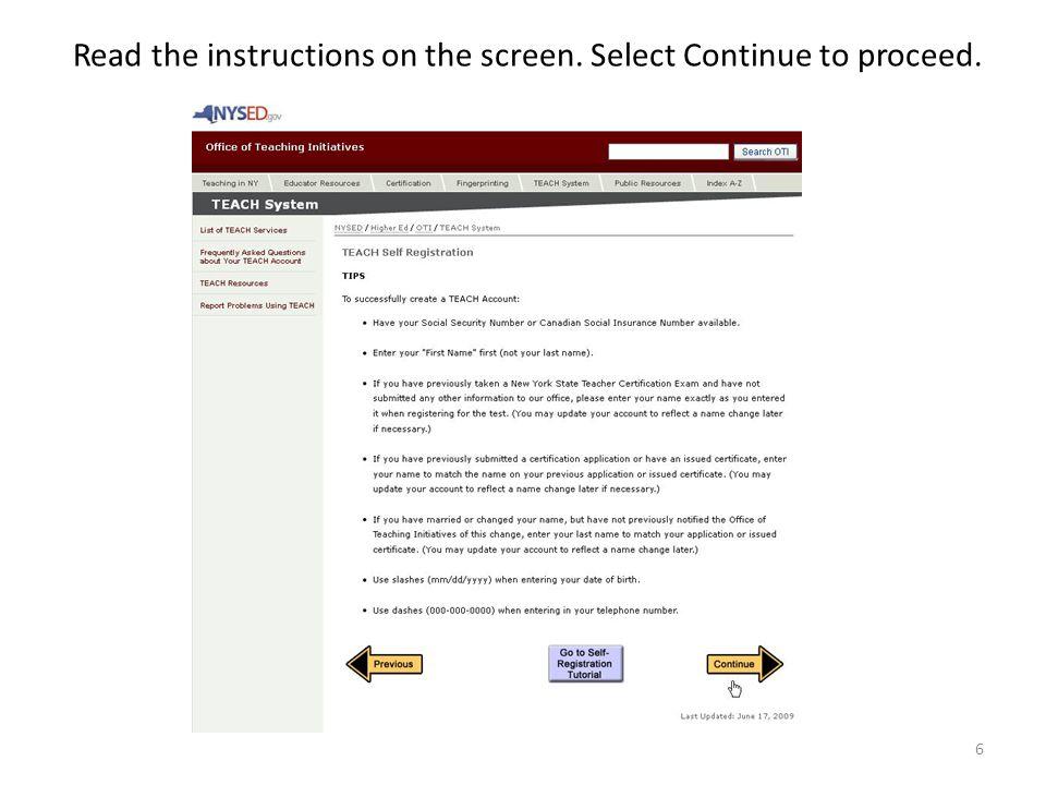 Handbook New York State On Line Teacher Certification Process For