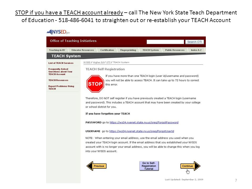 Handbook New York State On-Line Teacher Certification Process For ...