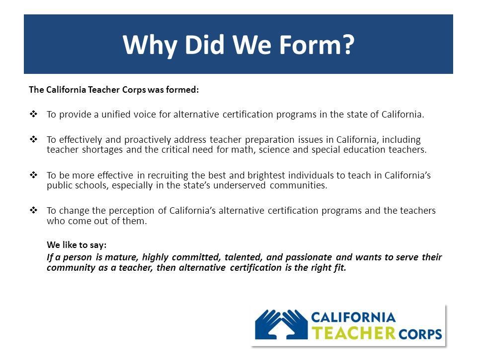"""the california teacher corps """"the right teacher makes all the ..."""