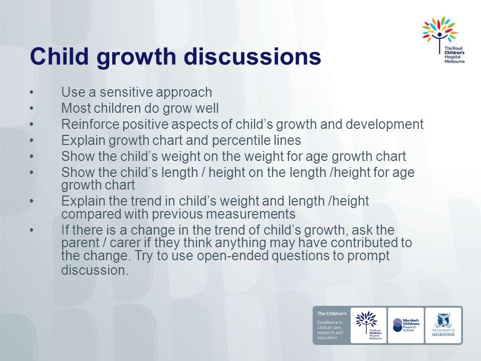Child Growth Charts In Australia Murdoch Childrens Research